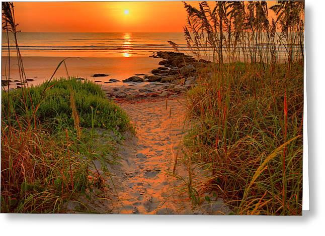 Sunrise Earth Florida Greeting Card