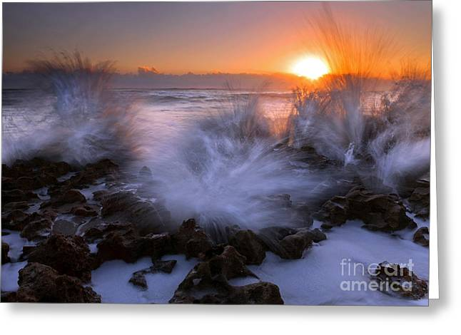 Sunrise Explosion Greeting Card by Mike  Dawson