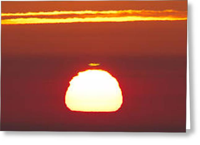 Sunrise Green Flash Greeting Card by Dustin K Ryan