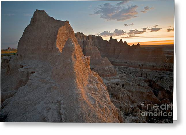 Sunrise In Badlands Greeting Card by Chris Brewington Photography LLC