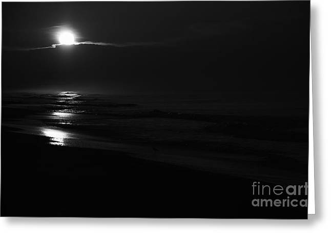 Sunrise In Black And White Greeting Card by Wilma  Birdwell