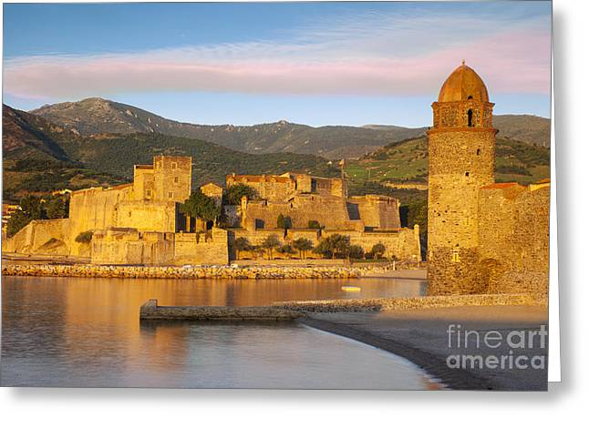 Sunrise In Collioure Greeting Card by Brian Jannsen