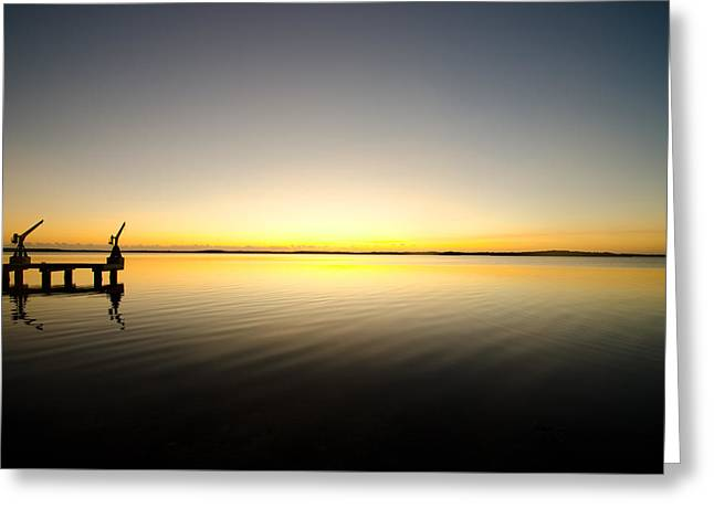 Sunrise In Key Largo Greeting Card by Chris Thaxter