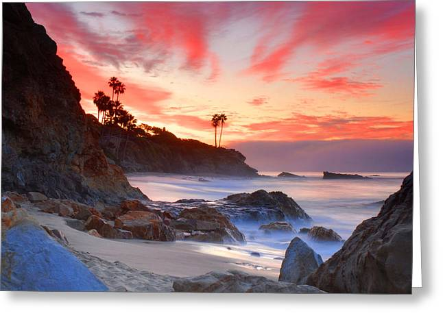 Sunrise In Laguna Beach Greeting Card by Dung Ma