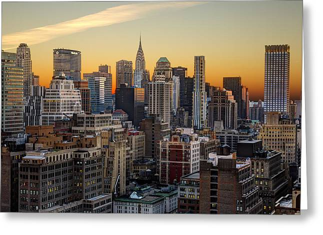 Sunrise In The City II Greeting Card by Janet Fikar