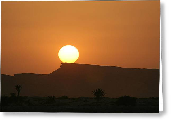 Sunrise In Tunisia Greeting Card by Simona  Mereu