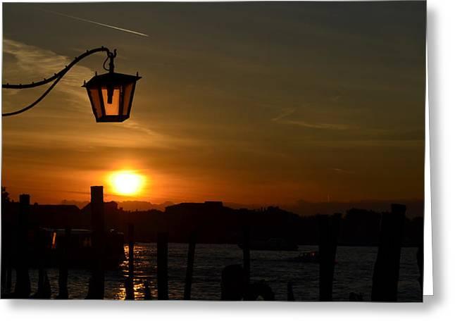 Sunrise In Venice Greeting Card