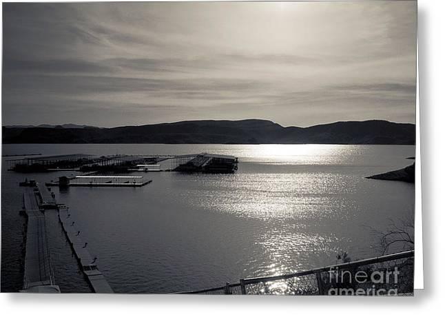 Sunrise Lake Pleasant Greeting Card by Arne Hansen