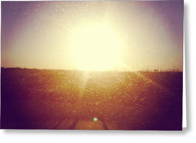 #sunrise #nature #sky #andrography Greeting Card by Kel Hill