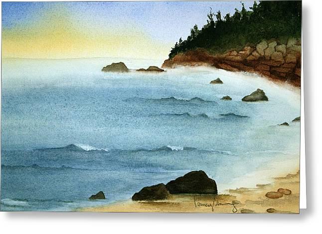 Sunrise On Big Bay Greeting Card