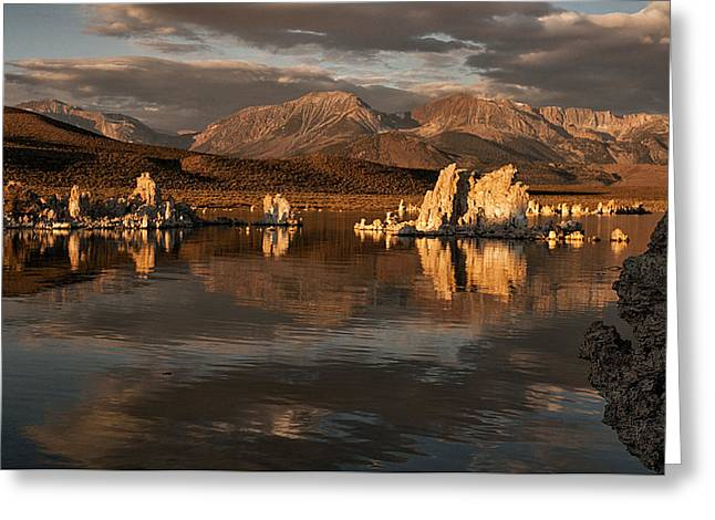 Sunrise On Mono Lake Greeting Card