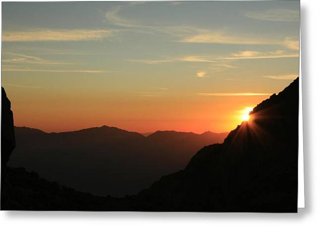 Sunrise On Mt.whitney Greeting Card
