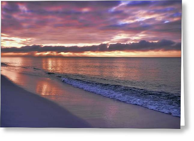 Sunrise On Navarre Beach Greeting Card