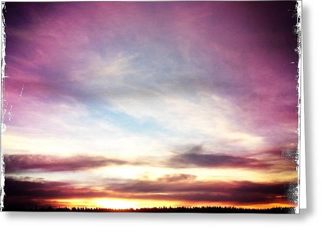 Sunrise On Ridge Greeting Card