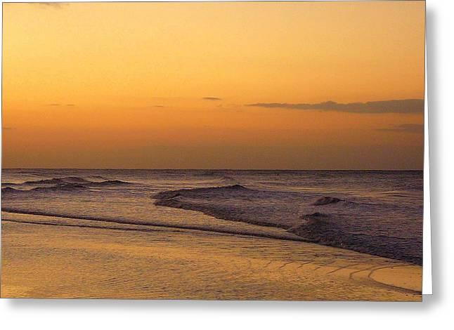 Sunrise On Sanibel Island Greeting Card by Anne Gordon