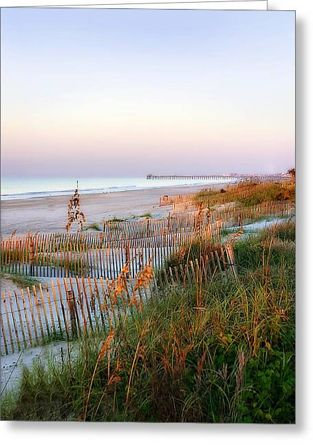 Sunrise On Sea Oats -1 Greeting Card by Alan Hausenflock