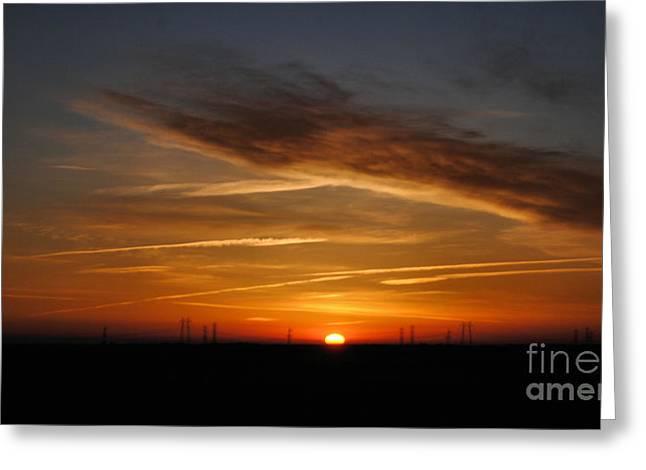 Sunrise On The 505 Greeting Card