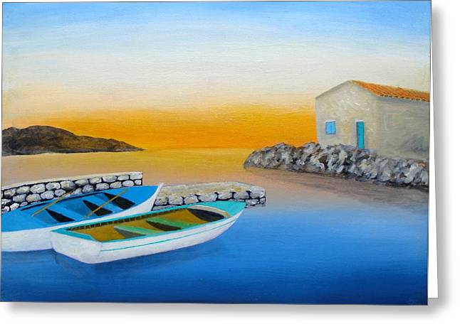 Sunrise On The Adriatic Greeting Card