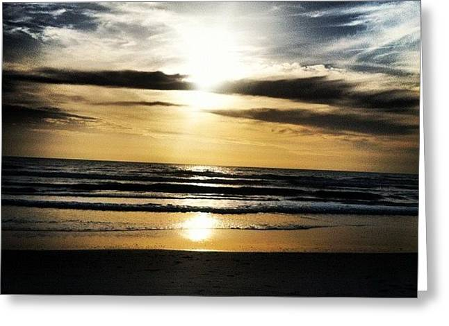 Sunrise On The Beach Greeting Card
