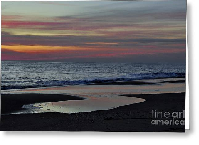 Sunrise On The Beach Greeting Card by Tamera James