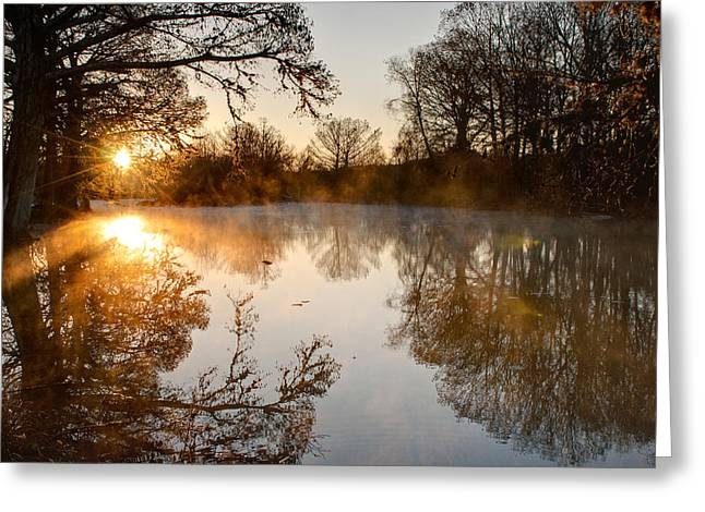 Sunrise On The Guadalupe Greeting Card by Paul Huchton