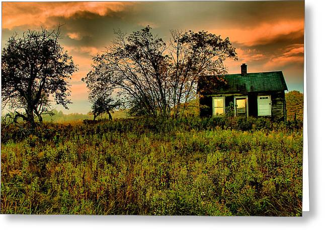 Sunrise On The Prairie Greeting Card by Matthew Winn