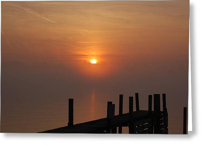 Sunrise On The River Greeting Card