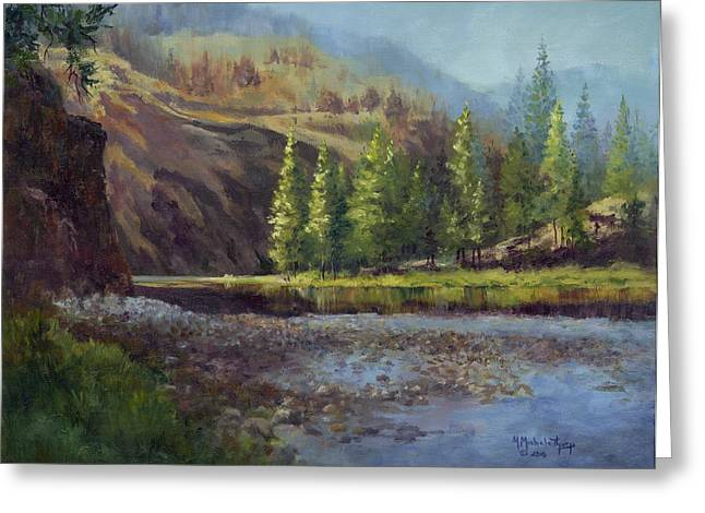 Sunrise On The Salmon River Greeting Card by Michele Thorp