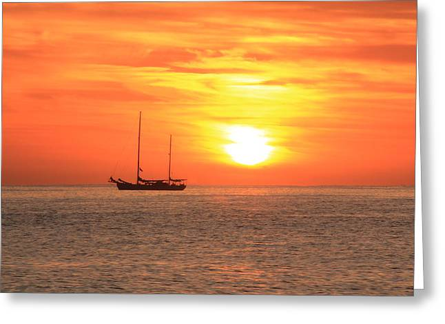 Sunrise On The Sea Of Cortez Greeting Card by Roupen  Baker