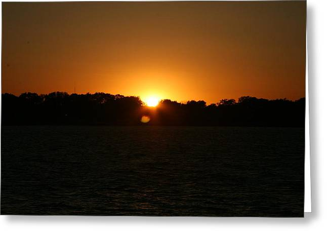 Sunrise On West Lake Okoboji Greeting Card by Amelia Painter