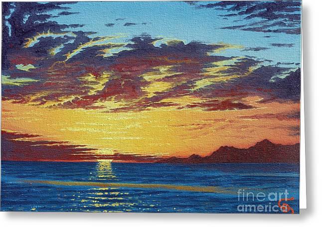 Sunrise Over Gonzaga Bay Greeting Card