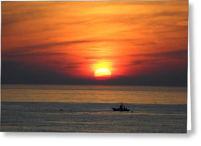 Greeting Card featuring the photograph Sunrise Over Gyeng-po Sea by Kume Bryant