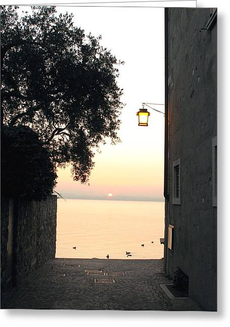 Sunrise Over Lake Garda Greeting Card