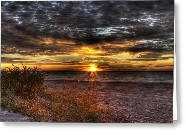 Sunrise Over New York Bay Greeting Card