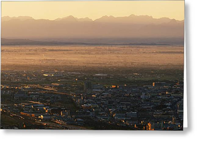 Sunrise Over The Cape Flats Greeting Card