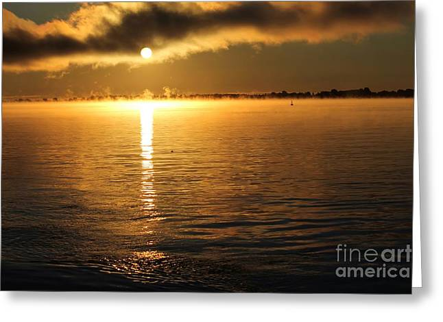 Sunrise Over The St Lawrence River Greeting Card by Sophie Vigneault