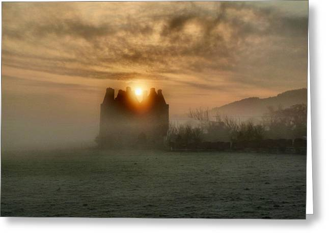 Sunrise Over The Tower Greeting Card