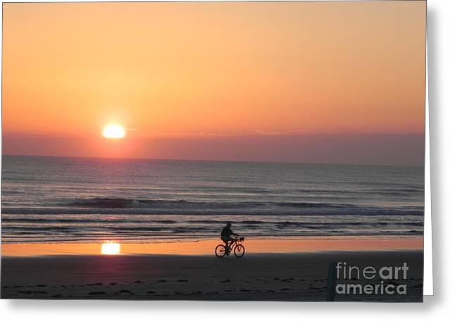 Sunrise Reflection Greeting Card by Sandy Owens