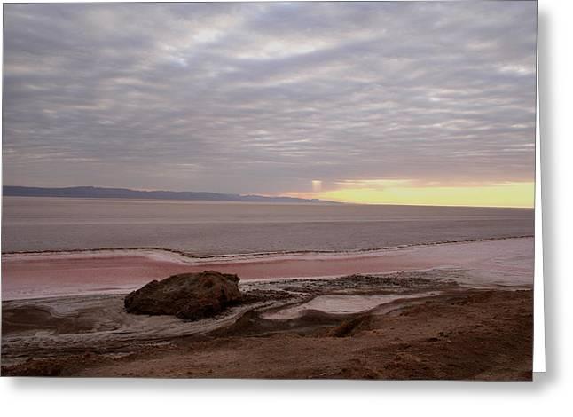 Sunrise Salt Lake - Tunisia  Greeting Card by Simona  Mereu