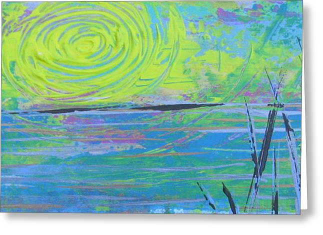 Sunrise Sunset 4 Greeting Card by Jacqueline Athmann