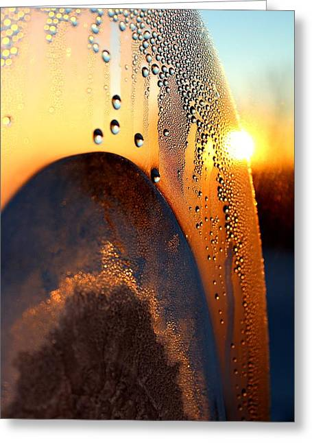 Sunrise Thru Ice Greeting Card