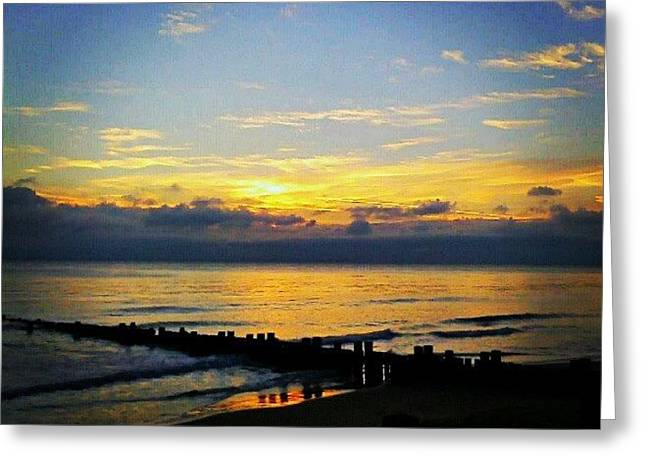 #sunrise #today ... #seaside #sea Greeting Card