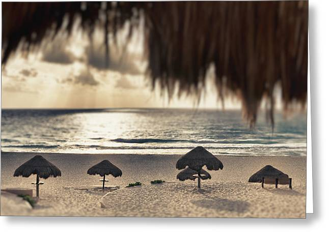 Sunrise Viewed From The Beach Greeting Card by Bryan Mullennix