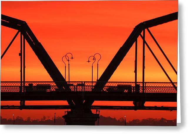 Sunrise Walnut Street Bridge Greeting Card