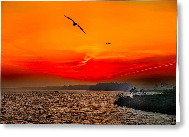 Greeting Card featuring the photograph Sunrise Willhelm Stadt by Rick Bragan