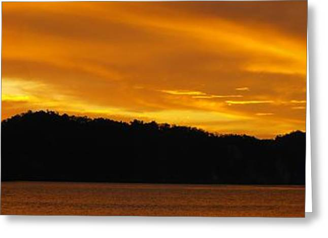 Sunscape Panorama  Curu National Wildlife Park Costa Rica Panorama Greeting Card