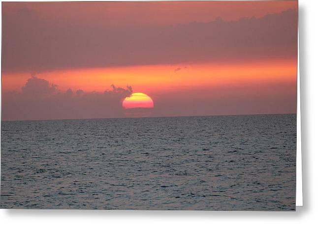 Sunset - Cuba Greeting Card by David Grant