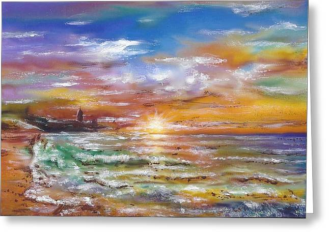 Sunset 6 Greeting Card by Eric Sosnowski
