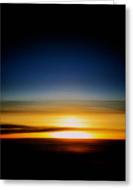 Sunset Above The Clouds Greeting Card by Jyotsna Chandra