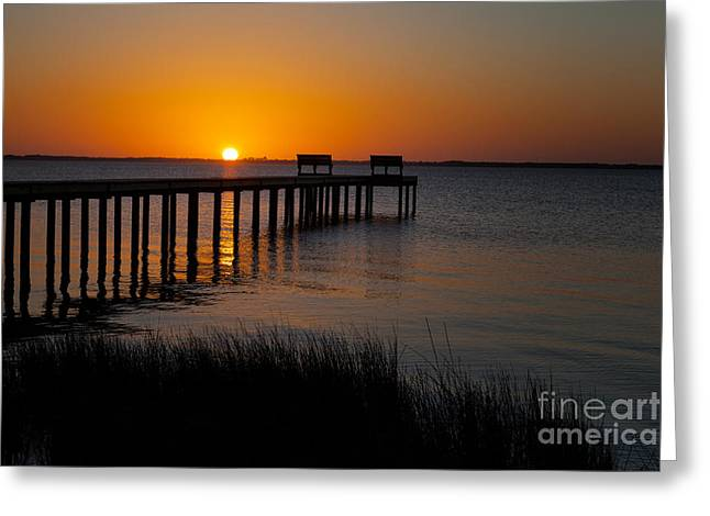 Sunset Across Currituck Sound Greeting Card